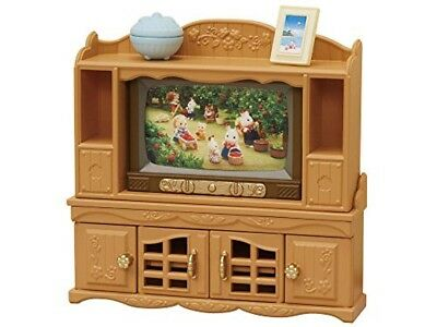 Epoch Calico Critters Sylvanian Families furniture TV and TV stand set ka522 NEW