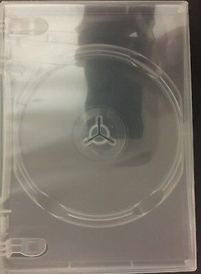 "One New, Clear, Premium Single DVD Keep Case, 14mm (1/2"")  Standard Size for DVD"