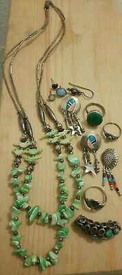 Vtg 925 Sterling Silver Scrap/wear/craft-Southwestern/native American