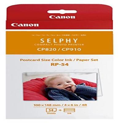 ❤ Canon Rp-54 High-Capacity Color Ink/Paper Set Ink 54 Sheets Postcard Size Cano