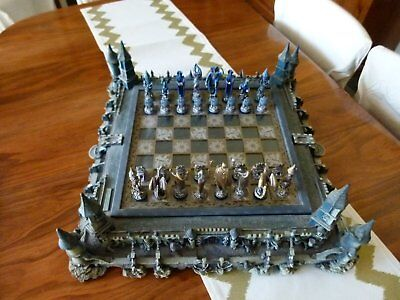 Franklin Mint Michael Whelan Guardians of the Fortress Chess Set.