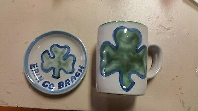M A Hadley 2 piece Irish St Patrick's Day Lucky clover New Old Stock  plate cup