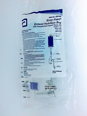Abbott 52048 Easy-Feed Enteral Nutrition Bag (Lot of 8)