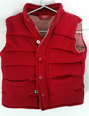 rhubarb size 3-4 quilted zip-up vest