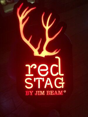 Red Stag By Jim Beam led sign