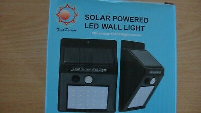 2x 20 LED Solar Power PIR Motion Sensor Wall Lights Outdoor Garden Lamp