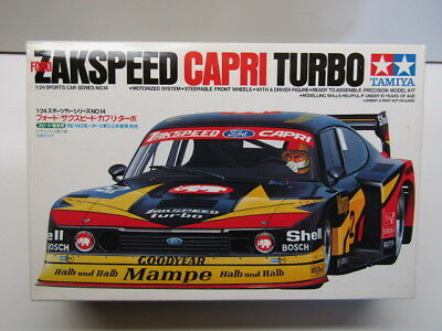 "Tamiya 1:24 ""Mampe"" Ford Zakspeed Capri Turbo Group 5 Model Kit New Motorisable"