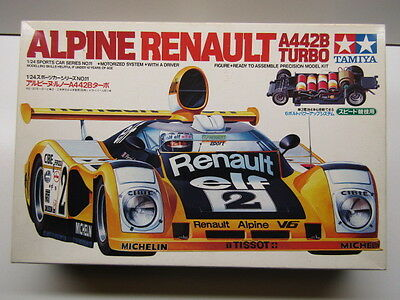Tamiya Vintage 1:24 Scale Renault Alpine A442B Turbo Model Kit - New Motorisable
