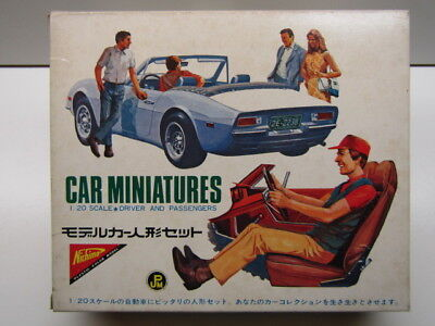 "Nichimo Vintge 1:20 Scale ""Car Miniatures"" Driver & Passenger Model Kit New Rare"