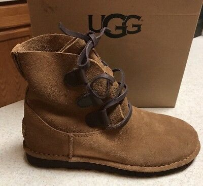 59bcd3b9581 UGG ELVI WOMAN'S Boot Chestnut Size 6 Very Nice New Authentic With ...