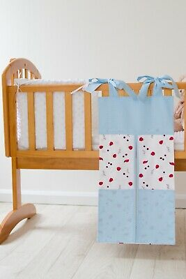 Ladybug & Blue Polka dot Nappy Stacker/Toy Storage for a girl or boy. Ideal gift