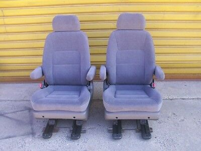 Pair of swivel base Captains Chairs to suit van/bus/camper. Ideal for motorhome.