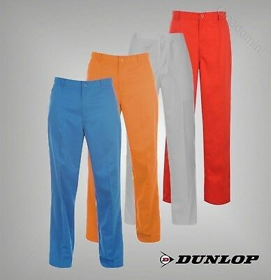 Mens Branded Dunlop 4 Pockets Golf Bright Trousers Pants Size Waist 32-40