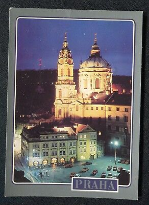 c1990s View at Night: St. Nicholes Cathedral, Prague