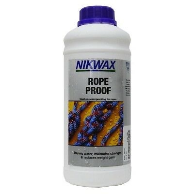 10% DISCOUNT! Nikwax Rope Proof - Wash-in Waterproofing Treatment For Ropes - 1L