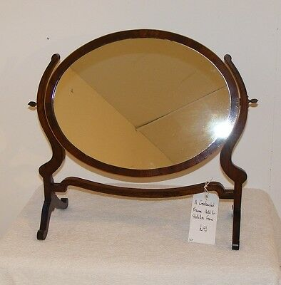 Good Quality Antique Mahogany And Inlaid Swing Toilet Dressing Table Mirror