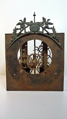 Antique movement clock rooster pendulum comtoise clock