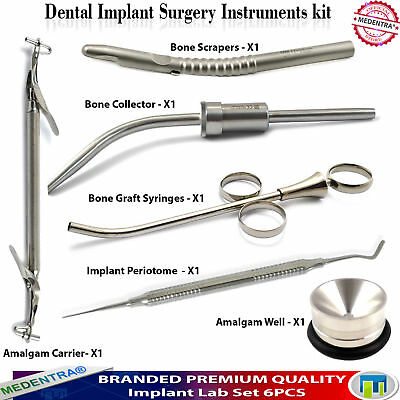 Dental Bone Graft Collector Grafting Syringes Bone Scraper Implant Mixing Well