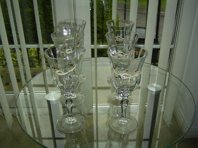 A Set Of 6 Johnson Brothers Eternal Beau Wine Glasses  Good Condition