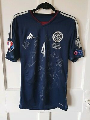 Match worn fully signed Scotland jersey shirt Russell Martin Rangers Germany