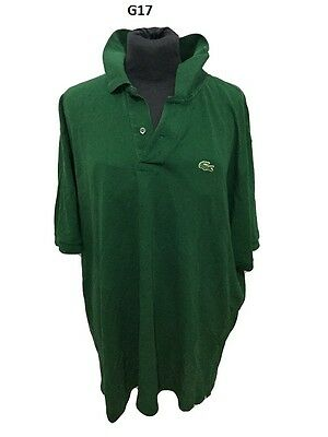 Maglia Lacoste Chemise Polo  Shirt Trikot Jersey Made In France 100% Cotton