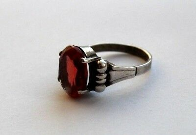 FABERGE Antique Imperial RUSSIAN  SILVER 84 RING 19 century