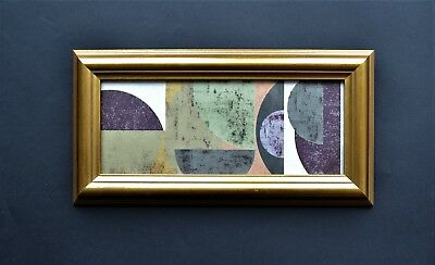 Scandi original mixed media collage print Mid Century Vintage frame Modernist