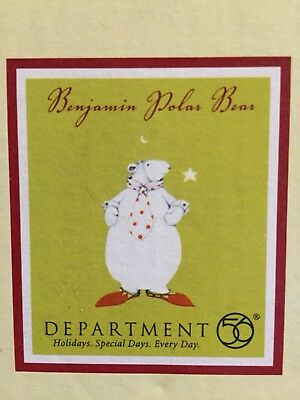 Department 56 Dept 56 Patience Brewster Benjamin Polar Bear Ornament