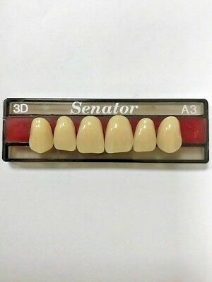 Senator Acrylic Resin Denture / False teeth Upper anterior All shades and moulds
