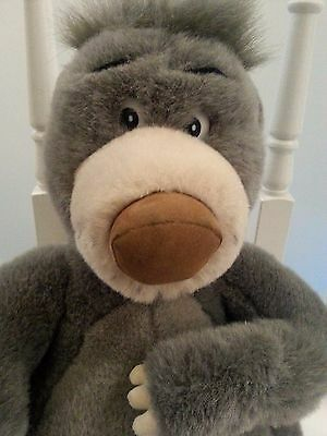 Jungle Book Baloo Large Plushie Disney Land 14""