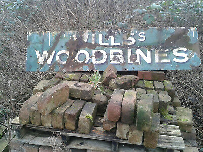 Vintage Large Will's  Woodbine Advertising  Enamel Sign