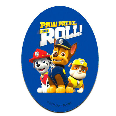 """Iron on patches PAW PATROL /""""RUBBLE CHASE MARSHALL 3/"""" Appl blue 11 x 8 cm"""