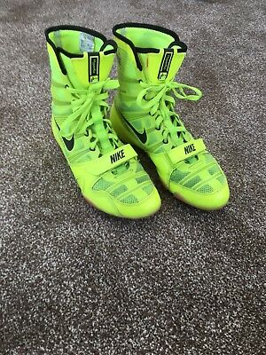 nike hyper ko boxing boots Size 9.5 US Size8.5 Uk In Volt Yellow