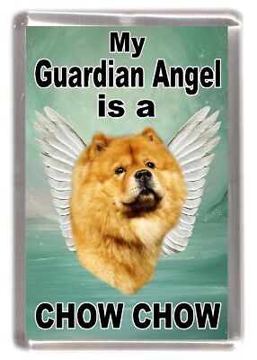 """Chow Chow Dog Fridge Magnet """"My Guardian Angel is a CHOW CHOW"""" by Starprint"""