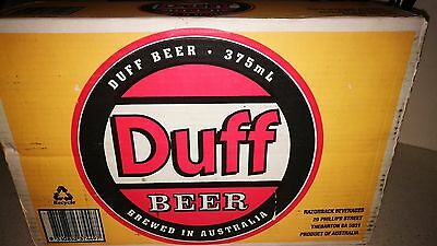 Duff Beer  Unopened Full Carton