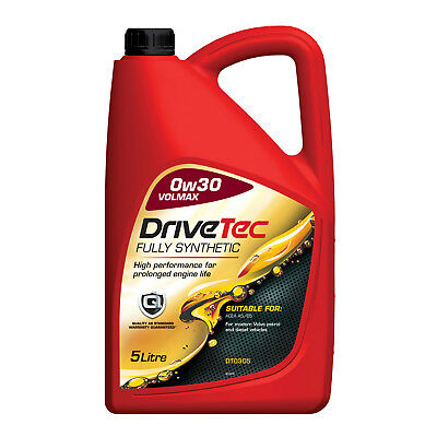 Drivetec 0W30 Engine Oil 5L 5 Litre Fully Synthetic Volmax A5/B5 Volvo