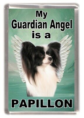 "Papillon Dog Fridge Magnet ""My Guardian Angel is a PAPILLON"" by Starprint"