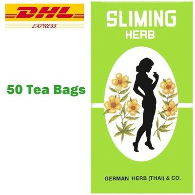 Slimming German Herb Sliming Tea 50 Bags Natural Weight Loss Laxative Exp. 2021