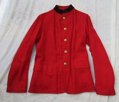 A Victorian British Infantry scarlet Foreign Service serge working frock uniform
