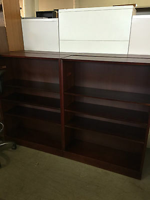 """36""""W x 12""""D x 48""""H BOOKCASE in MAHOGANY Finish WOOD by HALE OFFICE FURNITURE"""