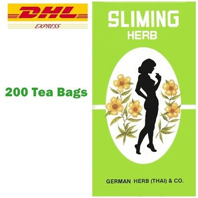 Slimming German Sliming Herb 200 Tea Bags Natural Weight Loss Laxative Exp. 2021