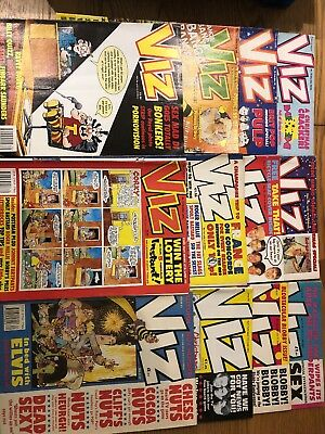 Viz magazines issues from the 90s