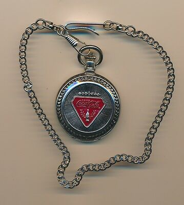 Officially Licenced CocaCola Chrome Pocket Watch