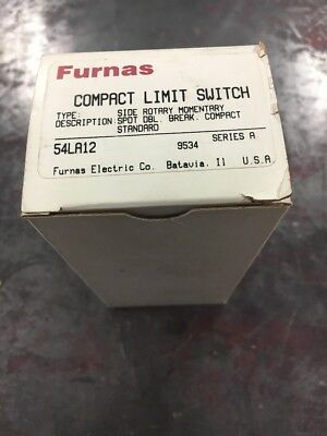 New, Furnace, 54La12, Compact Limit Switch, Side Rotary Momentary, (7C-1)