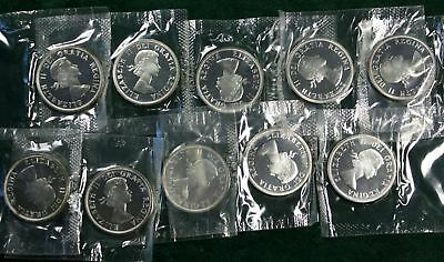 1964 $1 Silver - Canadian Dollar (in mint wrapper)  - 10 Coins total