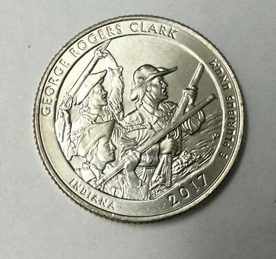 2017D George Rogers Clark National Park Quarter Unc Bu From Bank Roll