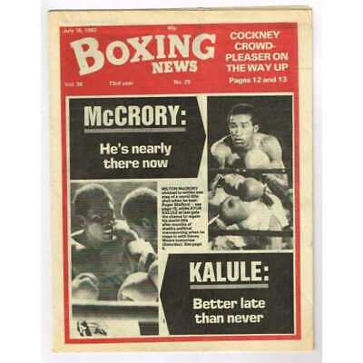 Boxing News Magazine July 16 1982 Mbox3097/C  Vol 38 No.29 McCrory: He's nearly