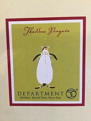 Department 56 Patience Brewster Thaddeus Penguin Ornament