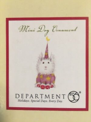 Department 56 Patience Brewster Mini White Dog Ornament Wings