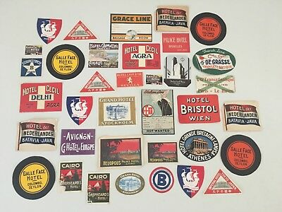 LOT of Vintage RARE Luggage Travel Hotel Early 1900's Advertising Labels